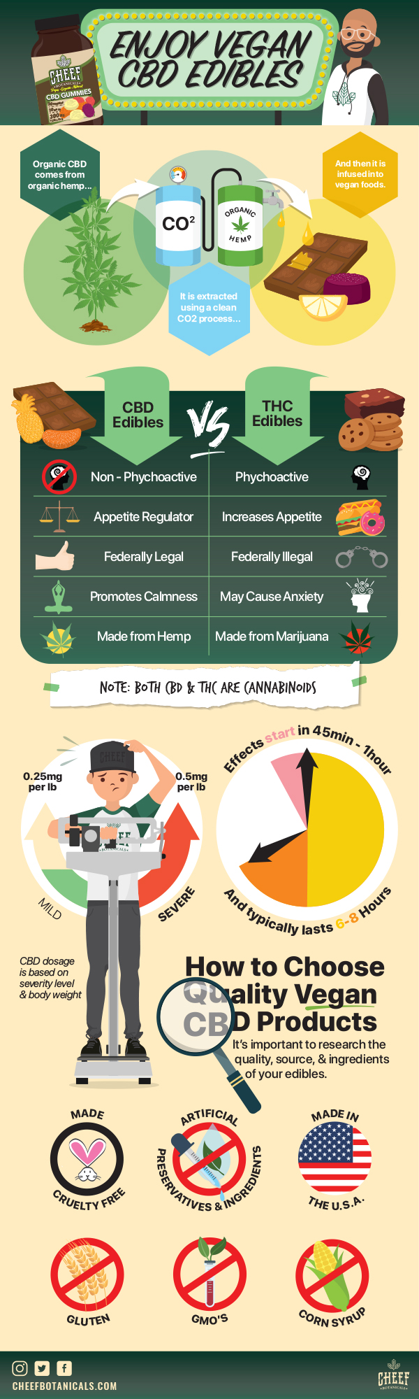 Enjoy vegan CBD edibles infographic