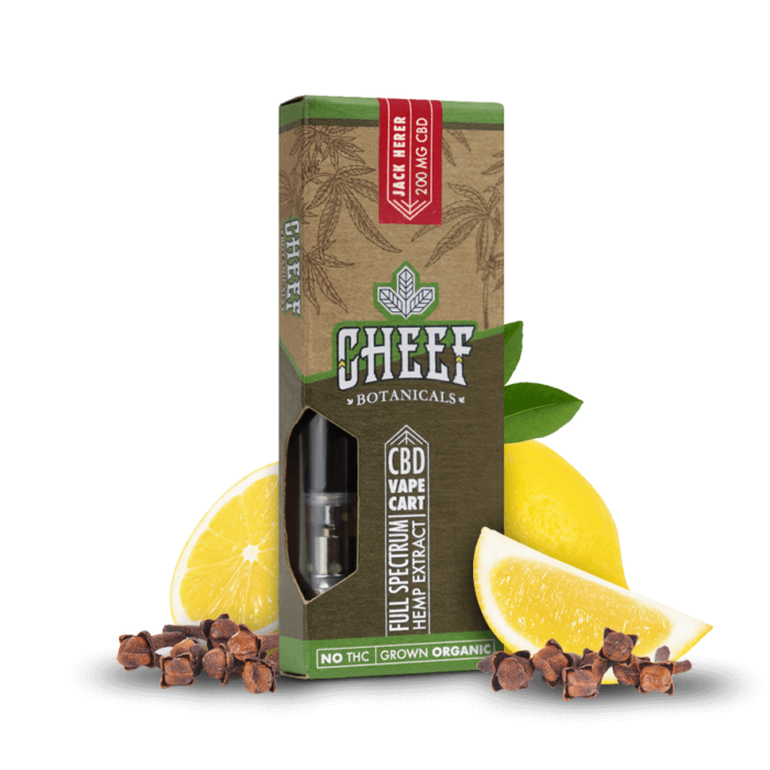 Cheef Botanicals CBD Vape Cart Jack Herer