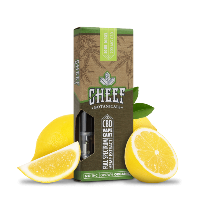 Cheef Botanicals CBD Vape Cart Sour Diesel