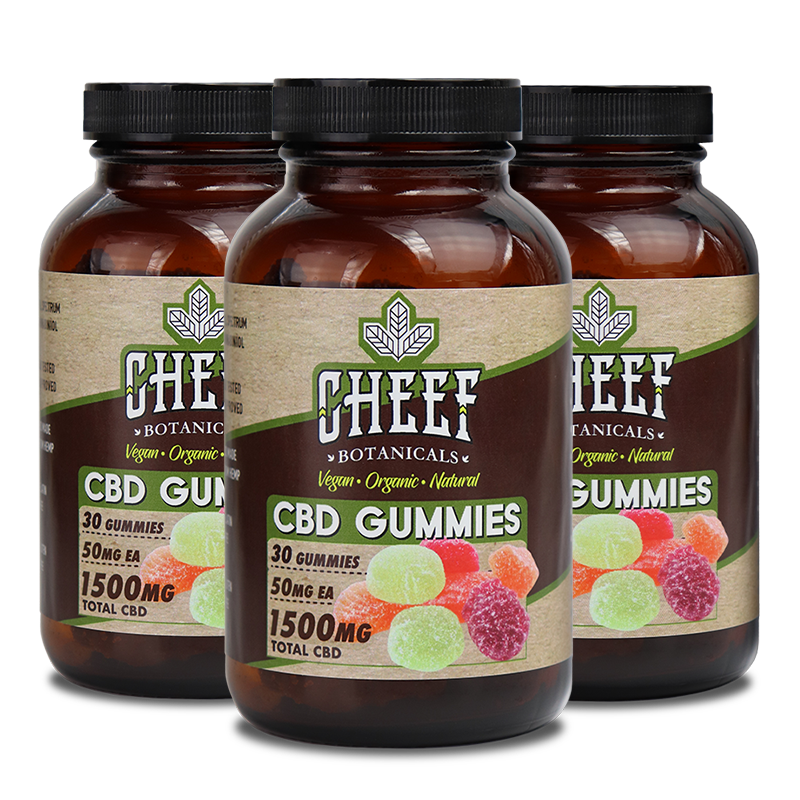 Cheef Botanicals 1500mg CBD Gummies Bundle