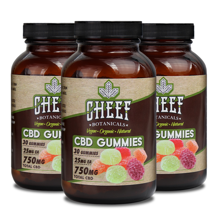Cheef Botanicals 750mg CBD Gummies Bundle