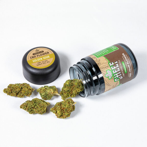 lifter cbd flower with jar