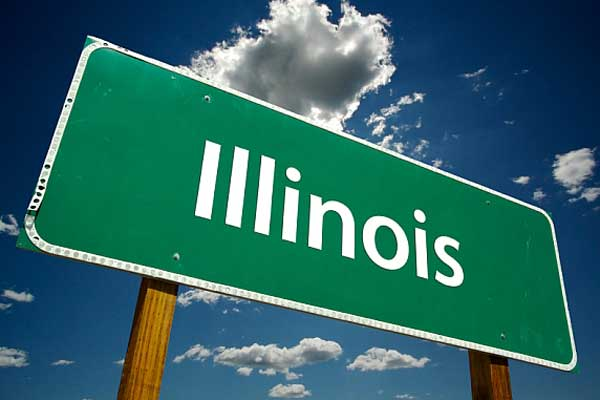 buy cbd oil in illinois road sign on highway green