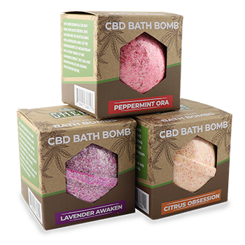 Cheef Botanicals' 100mg CBD Bath Bombs