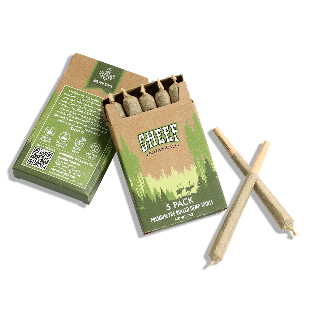 CBD Pre Rolls flat on floor with joints out