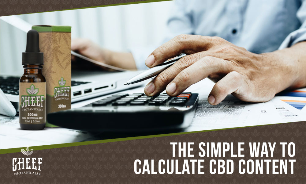 how to calculate CBD content