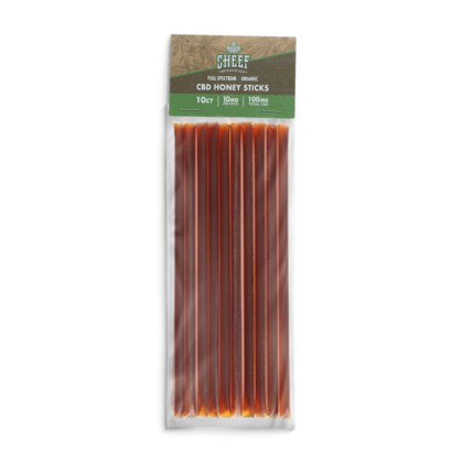 cheef botanicals CBD honey sticks packaged 10 pck