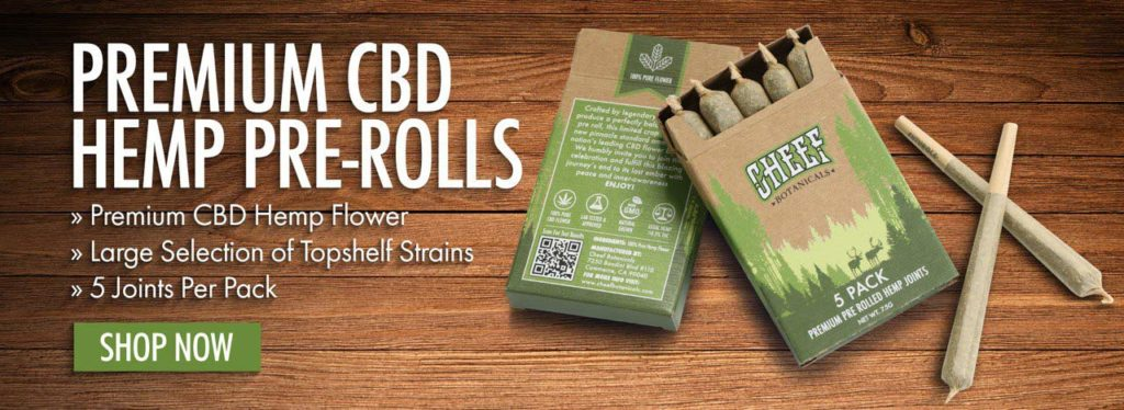 Cheef Botanicals premium hemp pre rolls
