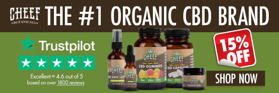 cheef botanicals organic number one banner