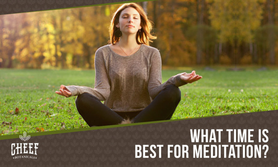 Best Time To Meditate Featured Blog Image