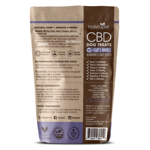 CBD Dog Treats for Heart and Immune back