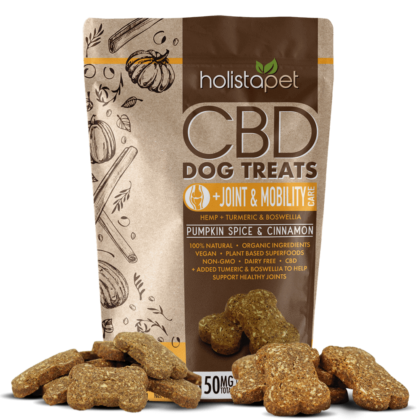 CBD Dog Treats for Joint and Mobility front with treats