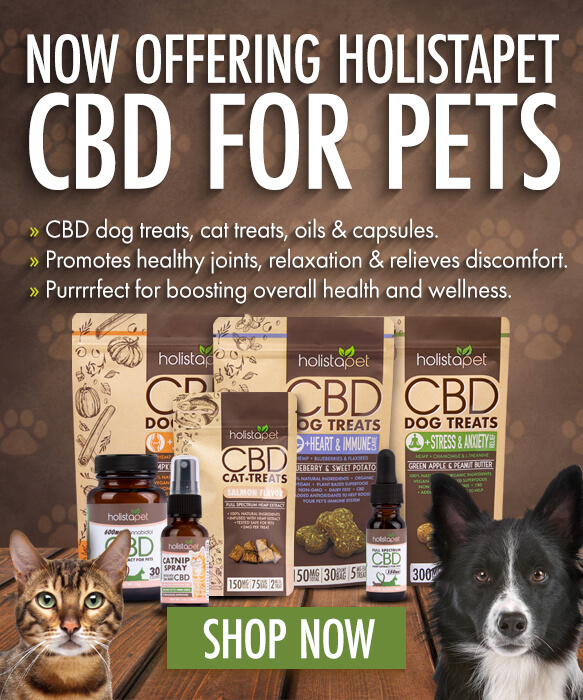 Now offering HolistaPet CBD on Cheef Botanicals