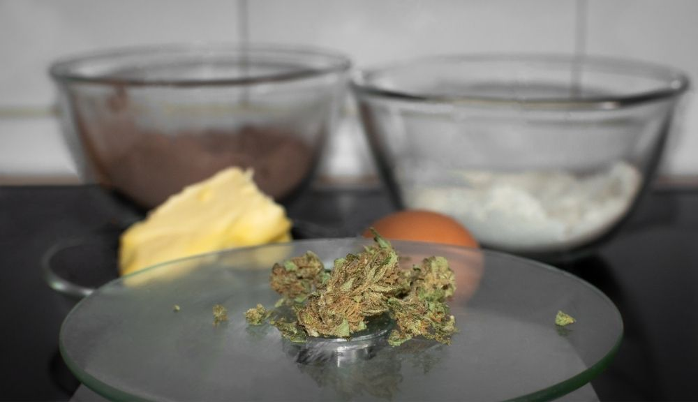 Hemp, butter, and other ingredients used to cook