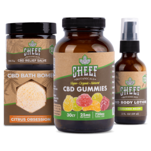 pamper bundle cbd products together